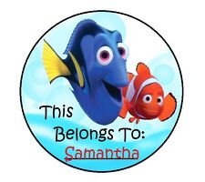 24 Personalized FINDING NEMO Property Stickers for school books NAME TAGS LABELS