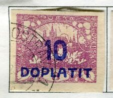 CZECHOSLOVAKIA;  1922 early DOPLATIT Postage Due issue used 10h. value