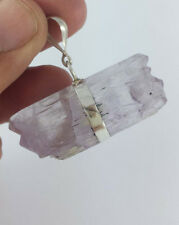 in silver 24 grm pendant Lavender Kunzite double terminated stunning crystal