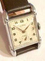 Vintage Art Deco Rotary Mens Tank Style Dress Watch ft. Excellent Lugs