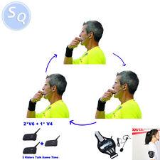 3 talk same time Walkie Talkie Coach Football Referee intercom Headset