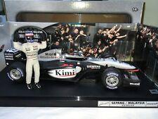 1:18 Hotwheels #C3857 Kimi Raikkonen McLaren MP4/17D #6 1st Win Malaysia 2003