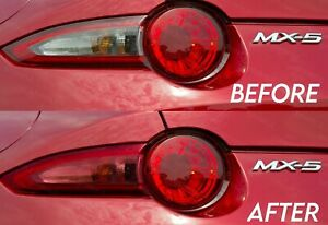 Transparent Red Turn Signal Tail Light Overlay for 2015+ Miata MX5