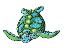 Sea Turtle - Ocean - Aquatic - Embroidered Iron On Applique Patch - Left