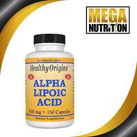 Healthy Origins Alpha Lipoic Acid 600mg 150 Capsules | Metabolism Antioxidants
