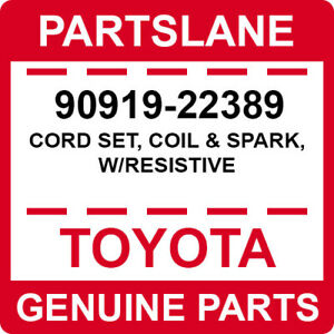 Toyota Genuine CORD SET, COIL & SPARK, W/RESISTIVE & COIL, IGNITION (3 Items)