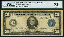 Fr. 1007 $20 1914 Federal Reserve Note Dallas PMG Very Fine 20.