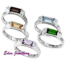 US$1989 Sterling Ring GENUINE Diamond Amethyst Citrine Diopside Topaz 85% OFF