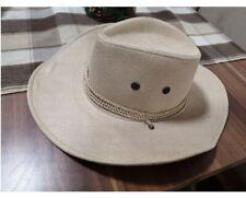 Cowboy Hat Cotton Western For Women Men Wide Brim Cowgirl Tassel Tauren Ribbon