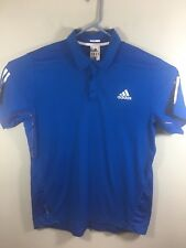 ADIDAS Mens Climacool Blue S/S Polo Golf Tennis Shirt Formotion Sz L Used