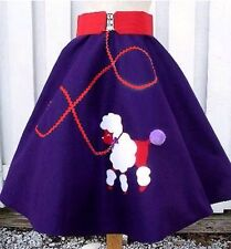 Red Hat Ladies Plus Size Hand-Made Felt 1950s Retro Poodle Skirt FREE SHIPPING