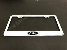 1x FORD LOGO STAINLESS STEEL LICENSE PLATE FRAME + Screw Caps