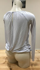 Reiss backless long sleeve top size XS extra small grey