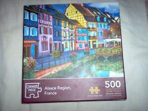 500 PIECE CORNER PIECE JIGSAW PUZZLE ALSACE REGION FRANCE
