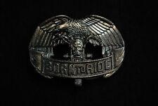 Vintage belt buckle, Biker, Born to Ride. Eagle