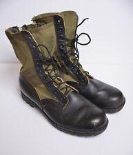 VTG Bata Spike Protective Military Boots Vietnam Green Jungle Combat Men's 9 W
