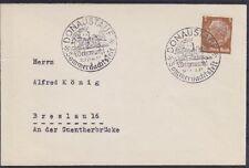 DR Mi Nr. 513 EF Drucksache SST Donaustauf Sommernachtsfest 1937, Sonderstempel