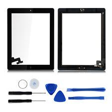 Für iPad 2 Touchscreen Scheibe Digitizer Display Frontglas Reparaturkit Schwarz