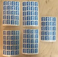 100 2nd Class Stamps Unfranked Off Paper - Self Adhesive For Easy Peel And Stick