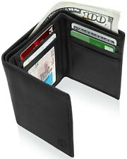 Access Denied Mens Leather RFID Blocking Wallet Trifold ID Window 7 Card Slots