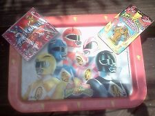 Mighty Morphin Power Rangers / TV soundtrack CD / BREAKFAST TRAY / GOLDAR eraser