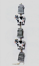 "15x3"" farm fresh wood cows pail country primitive kitchen cow decor swag sign"