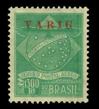 BRAZIL 1927 AIRMAIL - VARIG - overprint  1300r green  Sc# 3CL2 mint MH