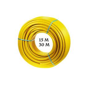 Magic Salt Reinforced Non Kink Garden Hose Water Pipe 15 & 30 Metre Yellow