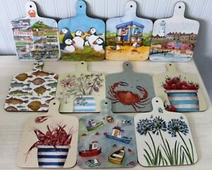 Emma Ball Chopping Board Various Designs H: 23.75 x W: 17cm Coastal Seaside