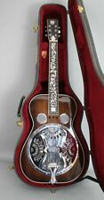 1996 Sunburst MOP Inlaid Square Neck DOBRO Acoustic Bluegrass Hawaiian Guitar