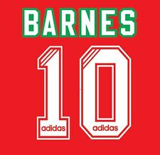 No 10 Barnes Liverpool 1993-1995 Home Football Nameset for Shirt LFC