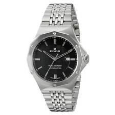 Edox Women's Watch Delfin Black Dial Stainless Steel Bracelet 54004 3M NIN