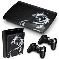 Ps3 Superslim Playstation 3 Skin Pegatinas Pvc Para Consola Y 2 Almohadillas Dragón Tribal