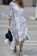 NWT Decjuba Charlotte Ruffle Wrap Dress [10&12&14] Floral Long Sleeve Maxi Dress