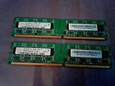 2GB SET - HYNIX 1GB X 2 PC2-5300U DDR2 DESKTOP MEMORY - 2 PIECES @ 1GB EACH