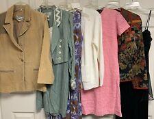 Ladies Vintage 8 pc Clothing Lot 60s thru 90s Dresses Sweater Jackets s/m/l
