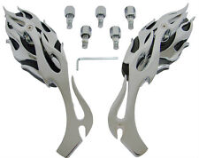 Chrome/Black Flame Mirrors for Kawasaki VN 2000 1600 1500 900 800 750 Vulcan EN