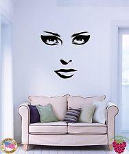Wall Stickers Vinyl Decal Eyes Lips Makeup Beautiful Woman Girl z1079