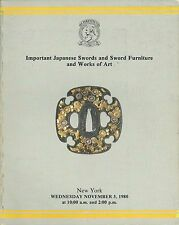 CHRISTIE'S Japanese Swords Fittings Tsuba Kozuka Auction Catalog 1980