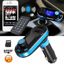 Bluetooth FM Transmitter Wireless Car Kit Radio Adapter MP3 Player Dual USB SLVR