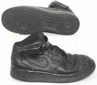 Nike Air Force 1 Mid GS (314195-003) Boys Basketball Sneaker Black Shoes Size 7Y