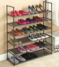6 Tier Storage Shoe Rack 24 Pair Shoes Organizer Stackable Space Saving Shelves