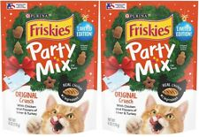 2 Purina Friskies Cat Treats Party Mix Original Crunch - Limited Edition - 6 Oz