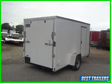 2020 6x 12 enclosed cargo uitility motorcycle trailer white standard v nose ramp