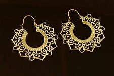 Fashion Large Gypsy Victorian Earrings Earrings Spiral Triangle Drop Silver Gold