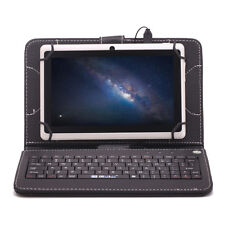 "7"" iRULU Android 4.4 Tablet PC A33 Quad Core Dual Cam 8GB White Pad w/ Keyboard"