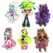 6Pcs/lot 10cm Monster High Collectible Figures Cake Toppers Toys Girls Gift