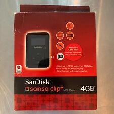 SanDisk Sansa Clip+ 4gb With FM Tuner & MicroSD Slot, USED