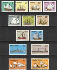SINGAPORE 1980 Ships; Scott 336-48; MNH
