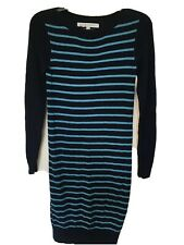 Lovely Ladies Crew Clothing Striped Jumper Dress Winter Size 6 As Nw Condition